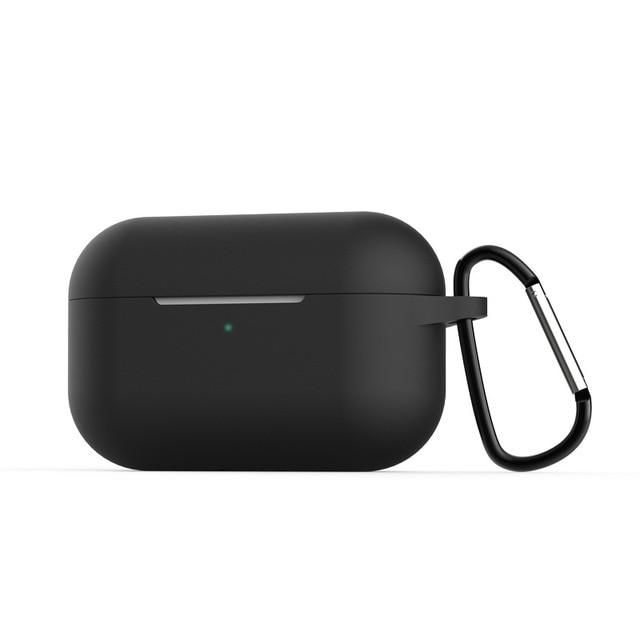 Airpods Pro Case Black Silicone Case With Keychain Airpods Case Airpods Pro Earphone Case Iphone Headphones