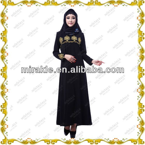 MF21317 newly embroideried kaftans abayas jilbabs muslim clothing  1.Best quality fabric,  2.Hand work embroidery  Beading