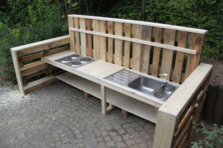 Neue Matschküche für die KITA WiesenäckerFörderverein unterstützt Erzieher-Elternprojekt in Heimerdingen — Förderverein KITA-Wiesenäcker