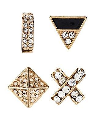55% OFF Jules Smith Set of 4 Geometric Stud Earrings