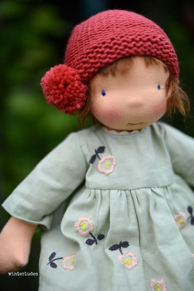 "OOAK Sybille, 17"" waldorf inspired doll"