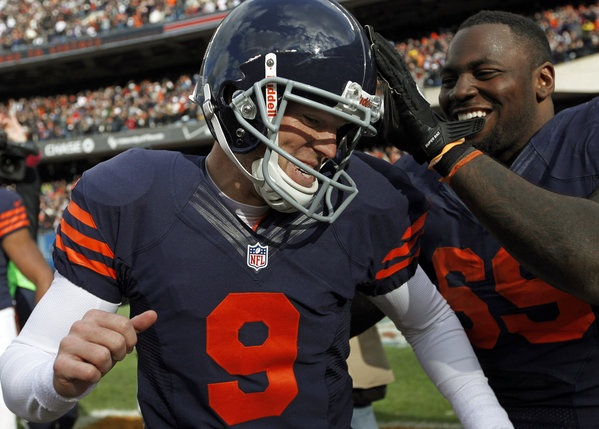 Robbie Gould delivers wit 41-yard winning field goal against the Panthers.