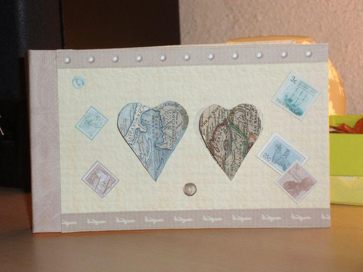 Libro dediche- guest book- Stamps di Monica Vittani Handmade su DaWanda.com