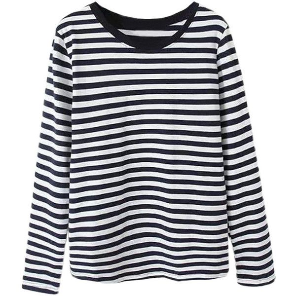 Best 25  Striped long sleeve tops ideas on Pinterest | Striped ...