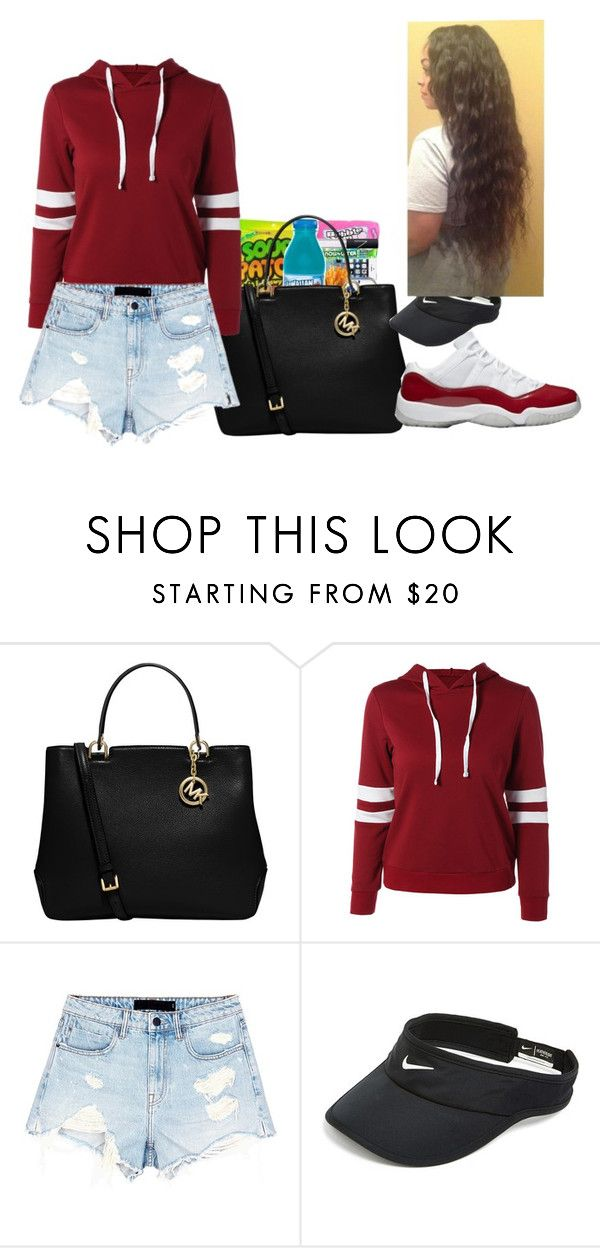 """Mind on Money"" by ashantisowell on Polyvore featuring MICHAEL Michael Kors, Alexander Wang and NIKE"