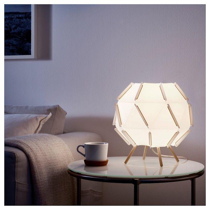 SJÖPENNA Bordslampa, vit IKEA | Lampbord, Bordslampa