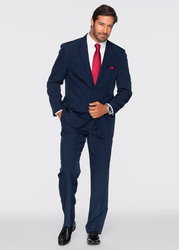klassischer anzug mit bequembundhose krawatte und. Black Bedroom Furniture Sets. Home Design Ideas