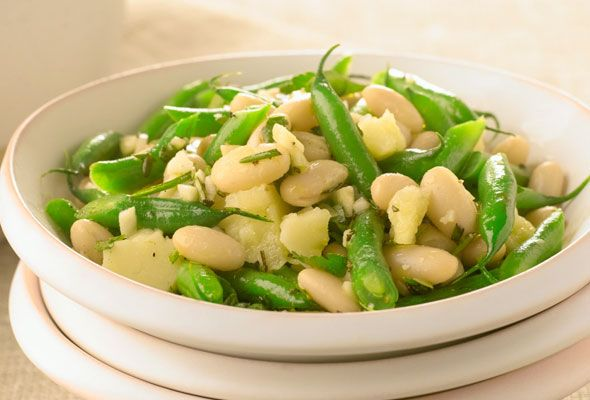 Pecorino and Bean Salad Recipe (from Giada DeLaurentis). Also good with edemmame instead of green beans.