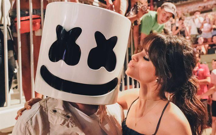 Download wallpapers Camila Cabello, Marshmello, DJ, celebrity, DJ Marshmello