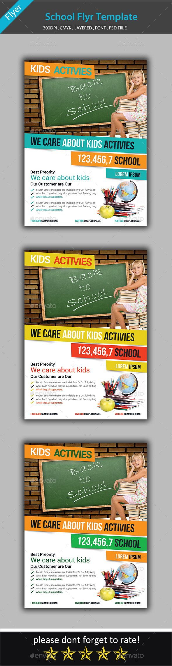 17 best images about layout design corporate school education flyer template