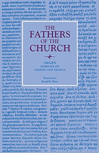"""Homilies on Genesis and Exodus (Fathers of the Church Patristic Series):   <P>Origen, son of the martyr Leonides, oldest in a family of seven children was born probably at Alexandria 184/85 and died probably in Tyre 253/54 after imprisonment and torture during the Decian persecution. Surnamed """"man of steel"""" Origen was an outstanding theologian of the early Greek-speaking Church, a man of the virtue and a genius with a prodigious capacity for work, an excellent teacher to whose lectures..."""
