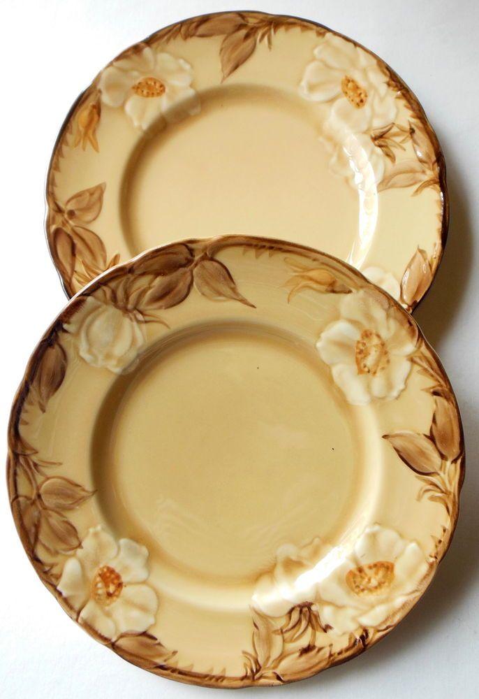 Franciscan Pottery Café Royal Lot of 2 Salad Plates PRISTINE #Franciscan
