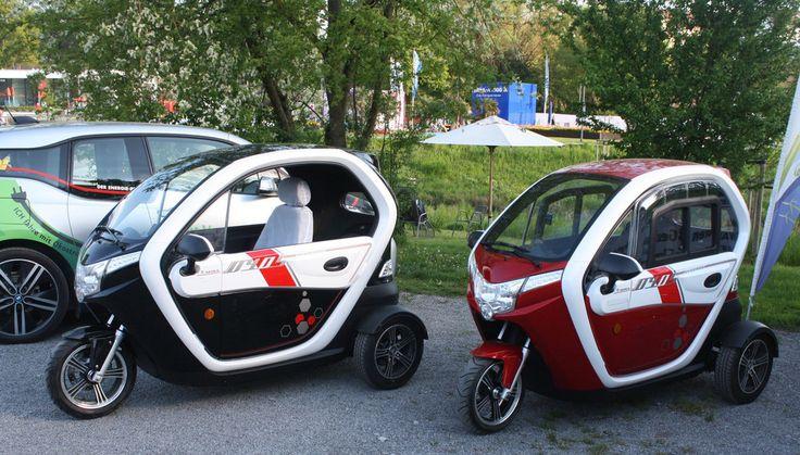 Dreirädriges Leicht Elektrofahrzeug - 45km/h - Geschlossen - 2 Personen m. Heizung -3 Rad Elektro,