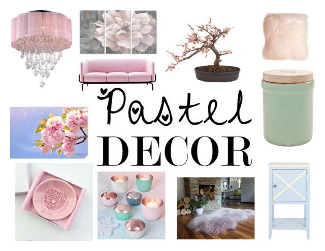 """""""Pastel Home Decor"""" by gothicvamperstein on Polyvore featuring interior, interiors, interior design, home, home decor, interior decorating, MOROSO, Safavieh, Warehouse of Tiffany and Stupell"""