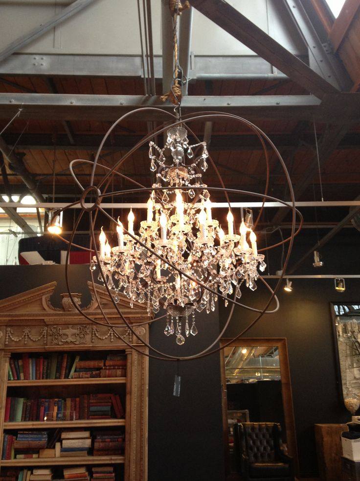 Stylish Patina Interiors Rough Luxe Market Virginia Dc: industrial style chandeliers