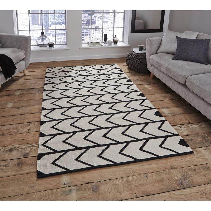 Die besten 25+ Teppich schwarz weiß Ideen auf Pinterest schwarz - teppich wohnzimmer modern