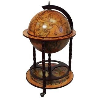 Shop for Wood 16th Century Style Globe Bar with Wine Rack Holder. Get free delivery at Overstock.com - Your Online Furniture Shop! Get 5% in rewards with Club O!