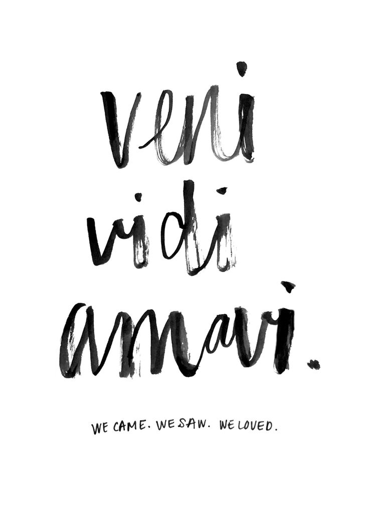 Veni. Vidi. Amavi. We came. We saw. We loved. #handlettering by moi. :)