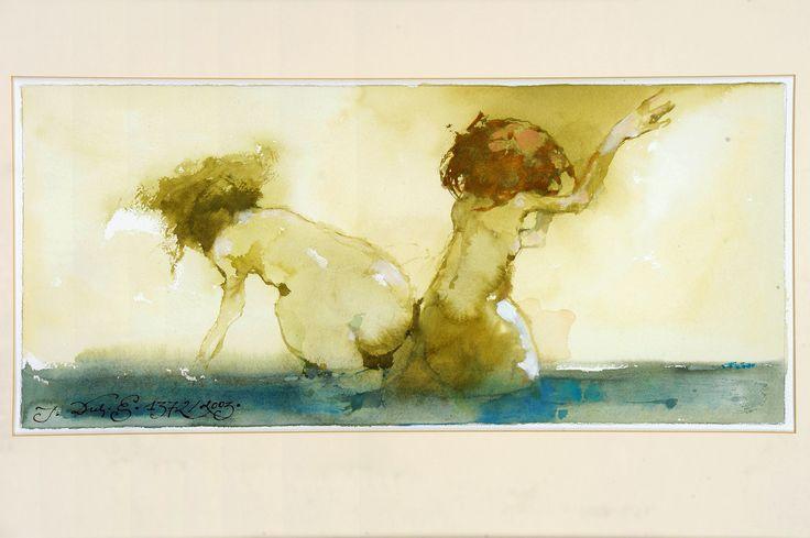 Bez Tytułu, 2003, akwarela, 30x66