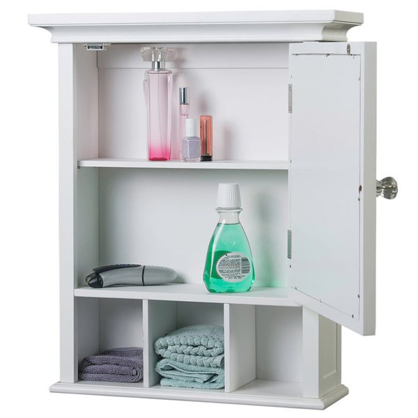 Dress Up Your Bathroom In Traditional Style With This Classic Decorative Medicine Cabinet The Striped Design And Large Mirror Improve Look Of