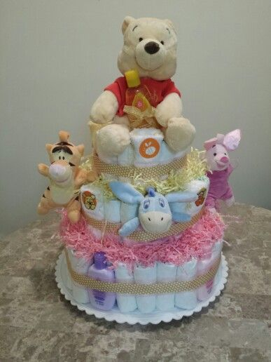 Baby shower Winnie the Pooh diaper cake | DIY PROJECTS ...
