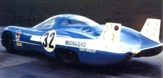 1969 Matra Simca MS640 LeMans prototype. Known much less for its race winning design than it's desire to fly.