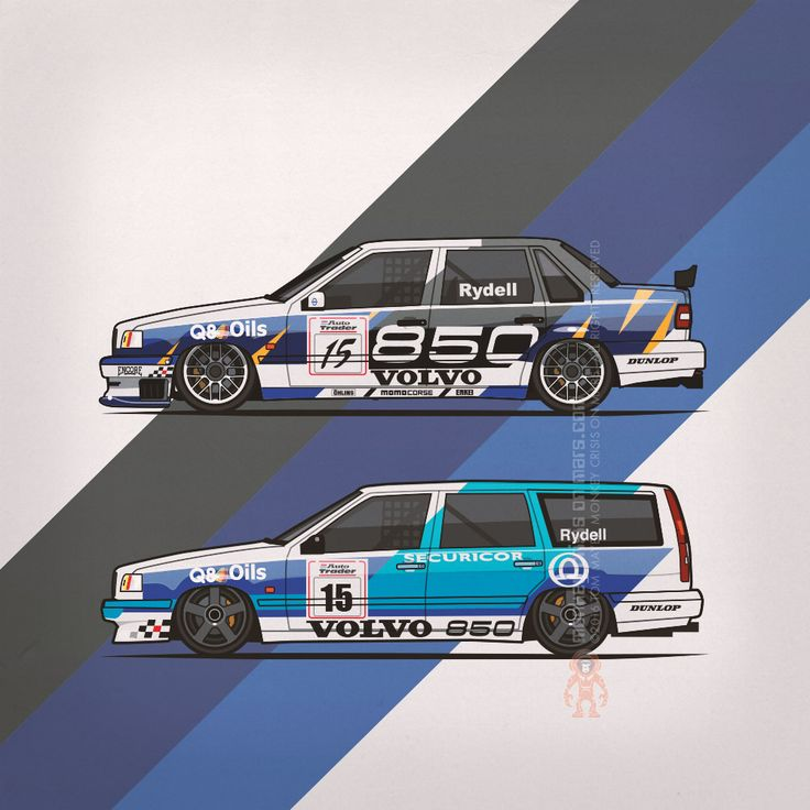 Volvo 850 Tom Walkinshaw Racing Super Touring Cars (1994/1995) by Monkey Crisis On Mars #Volvo #VolvoLove #CarLive #BTCC #Motorsports