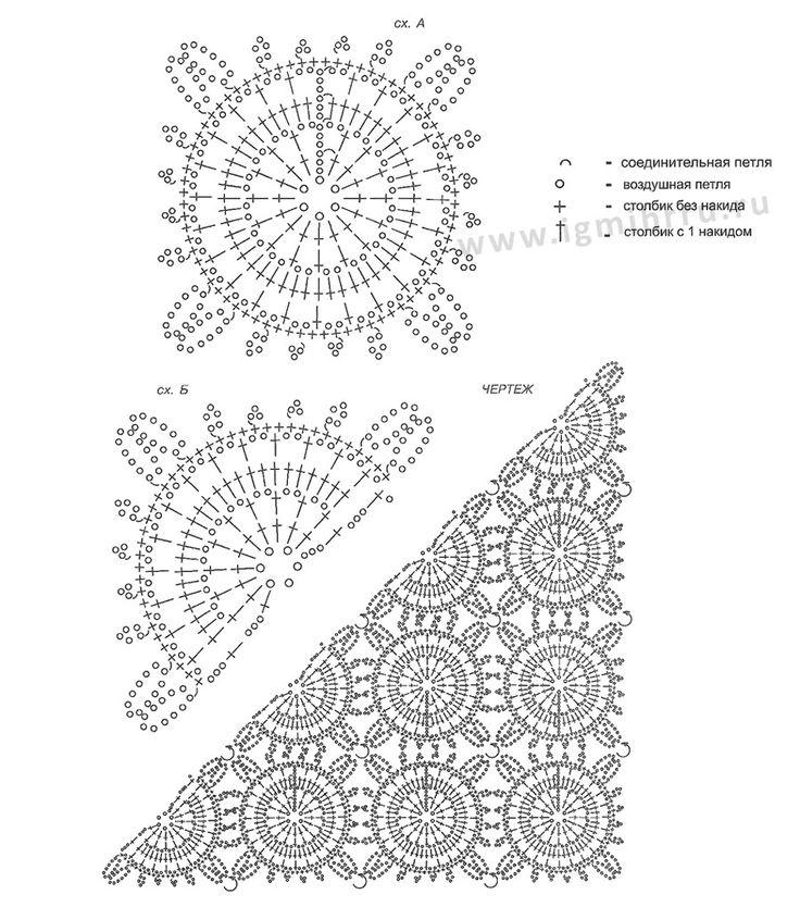 Mejores 125 imágenes de crochets vêtements en Pinterest | Patrones ...