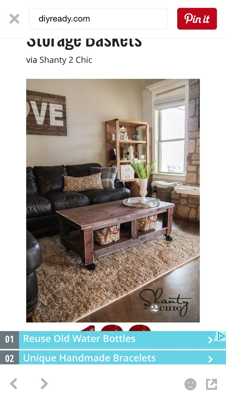 pottery barn living room decorating ideas%0A The talented girls over at Shanty   Chic are sharing their detailed plans  for this farmtastic Pottery Barn Inspired Coffee Table  Snatch up these  plans and