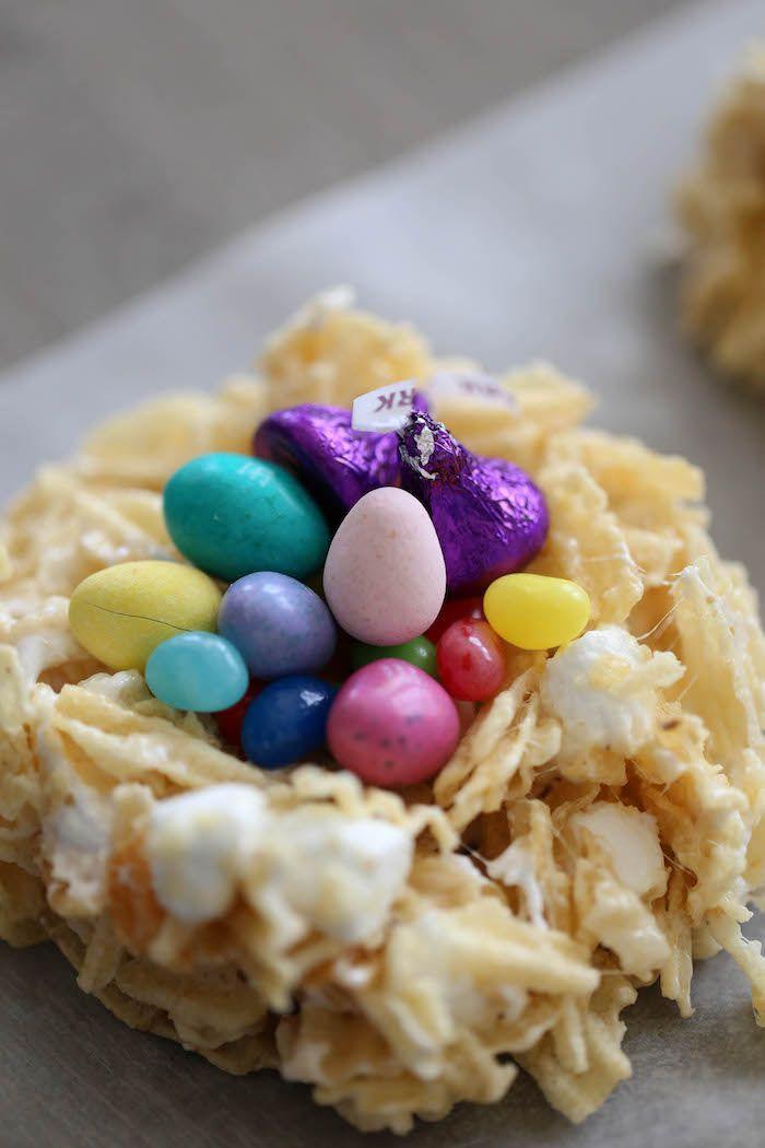 Marshmallow Potato Chip Easter Nests | Lauren's Latest