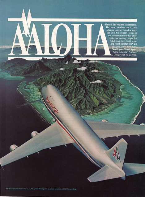 American Airlines ad from Travel+Leisure Magazine's July 1981 issue
