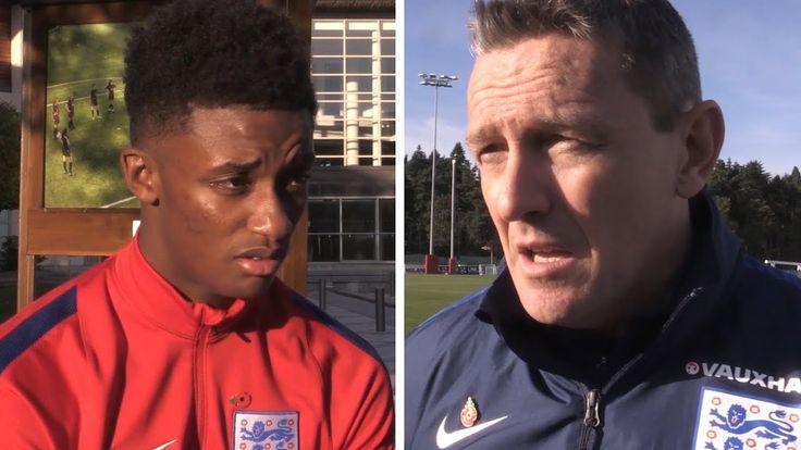 cool England U21's Aidy Boothroyd & Demarai Gray Preview Ukraine Qualifier