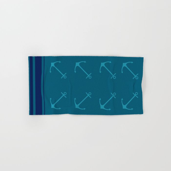 Buy a Set of 2 Hand & Bath Towels and Save! Anchors Hand & Bath Towel by scardesign. Worldwide shipping available at Society6.com. Just one of millions of high quality products available.
