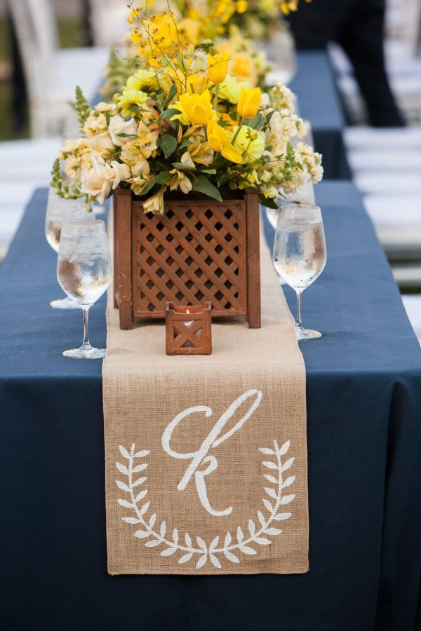 Love the monogram- we could do our logo. Not burlap, maybe plain linen or mixed linen.