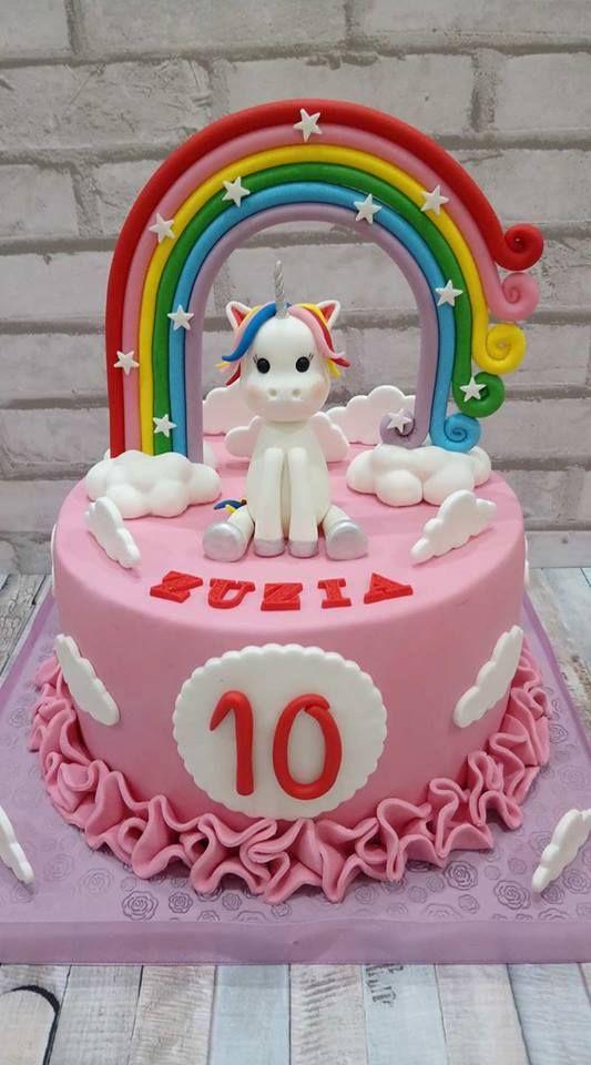 Tort z Jednorożcem i tęczą - Unicorn