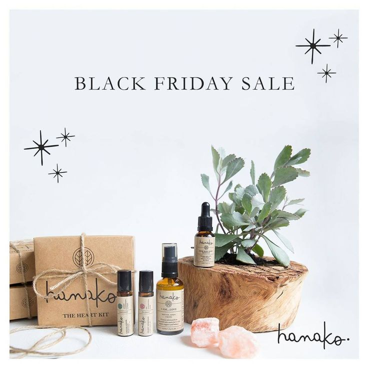 {sale reminder} . we have a VERY special #BLACKFRIDAY Sale planned out this week for our tribe! 👏🌿 our subscribers get fist dibs & early access on all of the deals + a FREE gift this Thursday! 🎁 head to our website to sign up now. the e-newsletter will hit your inbox tomorrow where you'll get a special coupon code before everyone else, so stay tuned loves 🎍 // http://www.hanakotherapies.com/