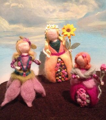 My lovely flower ladies made by Catreeana Saunders