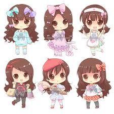 Resultado de imagen para muñecas kawaii para dibujar morenas