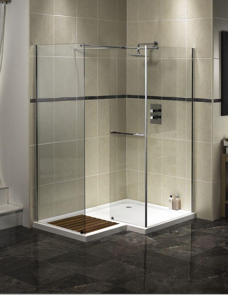 Best 25+ Shower no doors ideas on Pinterest | Open small bathrooms ...