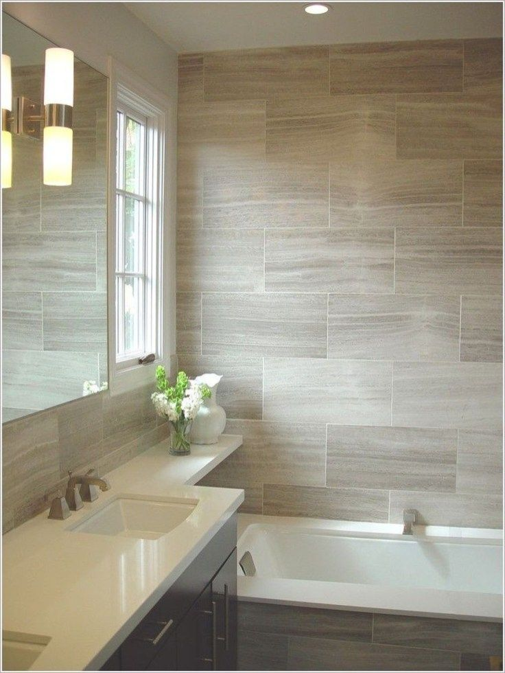 46 Popular Beige Contemporary Bathroom Vanity Ideas One Of The Good Things About Eu Wallpaper Accent Wall Bathroom Bathroom Accent Wall Bathroom Tile Designs