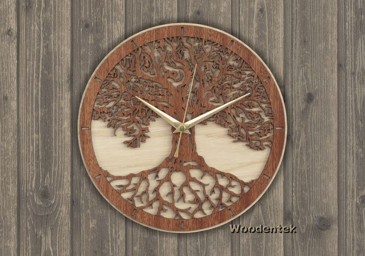 Handmade Tree of Life Clock in wood.   Worldwide Shipping. Available in:  www.woodentek.etsy.com .... #Balance #Chakras #Energy #FengShui #Inspiration #Pilates #Spiritual #Taichi #TreeofLife #Yang #Yin #YinYang #Yoga #Yogi #Zen #BirthdayGifts #MothersDay #FathersDay #Artisan #Giftforme #GiftGiving #Gifts #GiftsIdeas #Christmas #WishList #Giftformen #Giftforher #homedecor #WallClock #fanart #holiday #holidaygifts #giftguide #present #xmas #giftshop