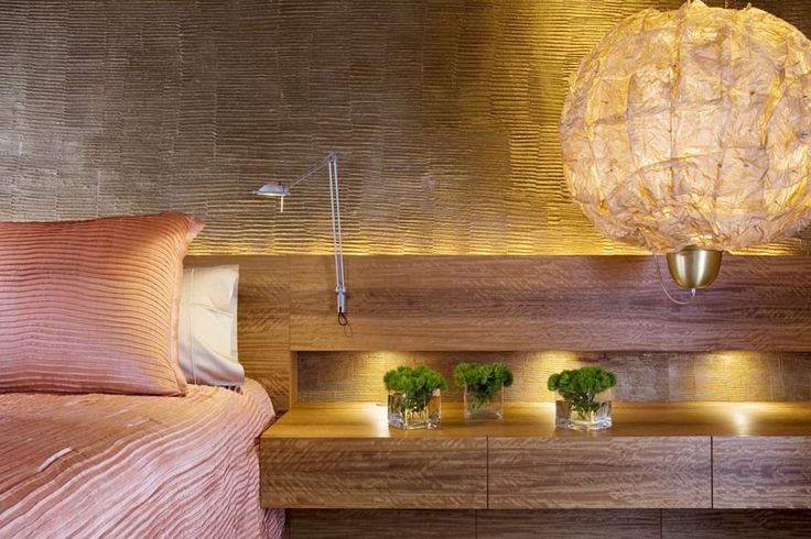 The Bedroom  Clodagh - Great lighting with texture: Penthouses Apartment, Apartment Interiors Design, Bedrooms Penthouses, Beautiful Interiors, Luxury Bedrooms, Small Bedrooms Design, Penthouses Interiors, Inspiration Interiors, Wall Texture