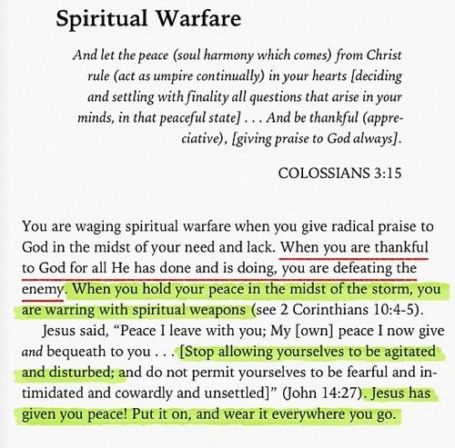 Spiritual Warfare---I need to print this and put it some place where I can see it often.