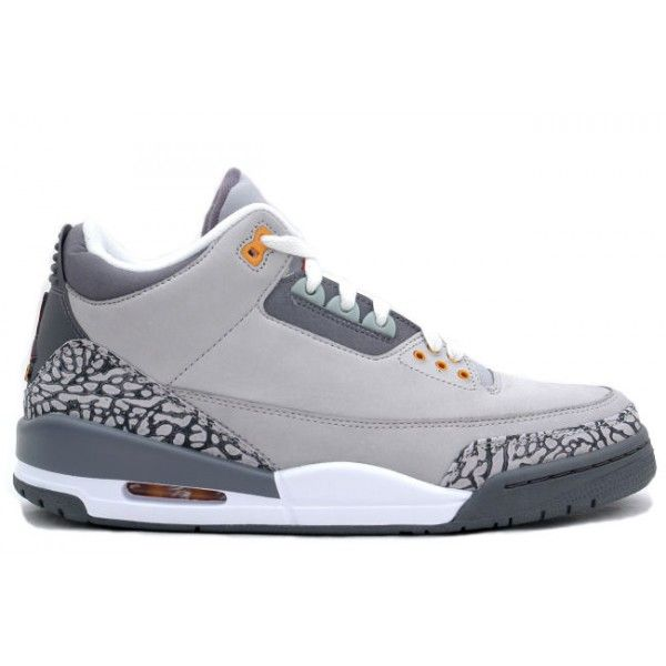 Nike Air Jordan Cement 3 III Retro Mens Shoes Cool Grey