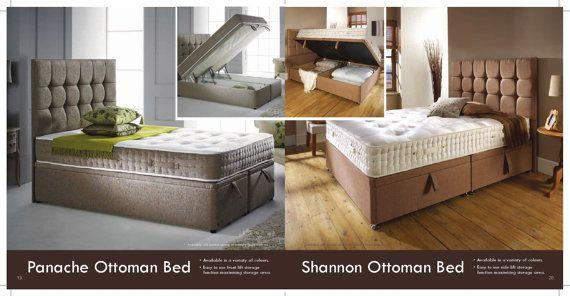 storage ottoman divan bedframe with headboard