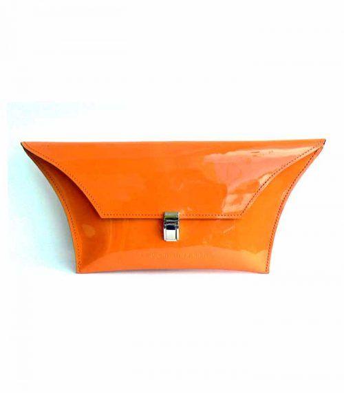 Patent Orange clutch_Kylie