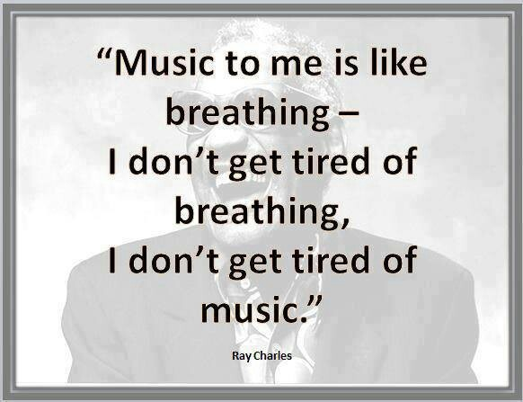 Never!!! If I ever get tired of music it's probably because I'm dead...jk
