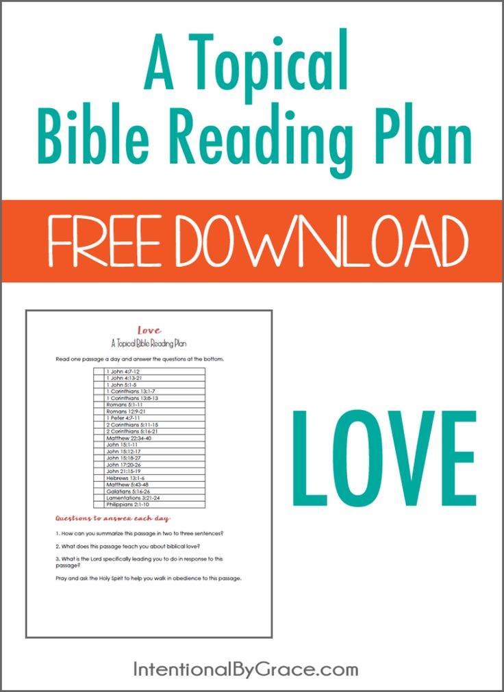 Free Topical Bible Reading Plan on Love!