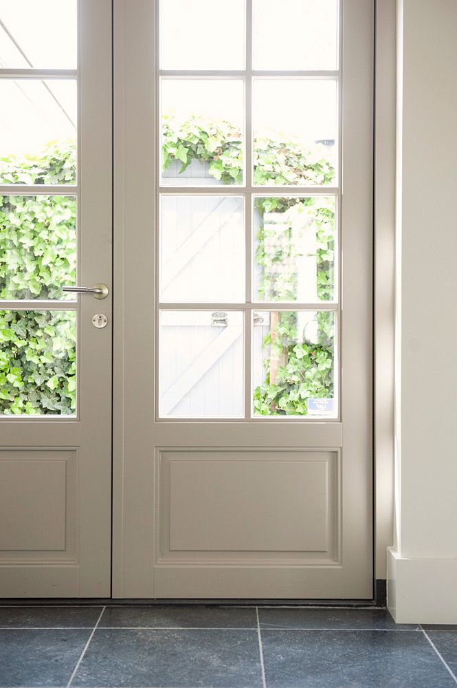 Delightful In Place Of Our Ugly Sliders   Beautiful White French Doors