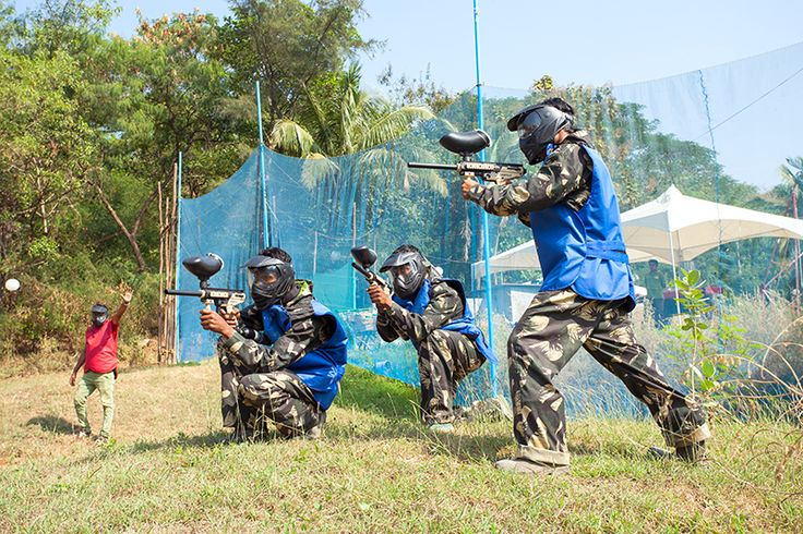 Shoot your buddies in the most colorful way with action pack Paint Ball game at Royal Palms adventure Park in Mumbai. For more info call us at 2879 5000